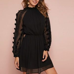 Little Black Dotted Dress